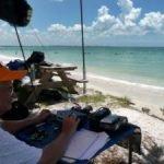 K4UPG ham radio on the beach